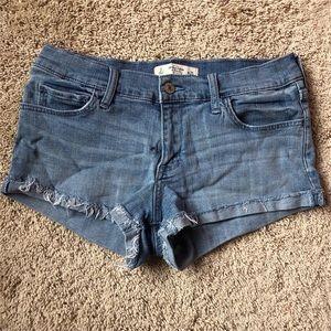 Abercrombie jean low rise shorts
